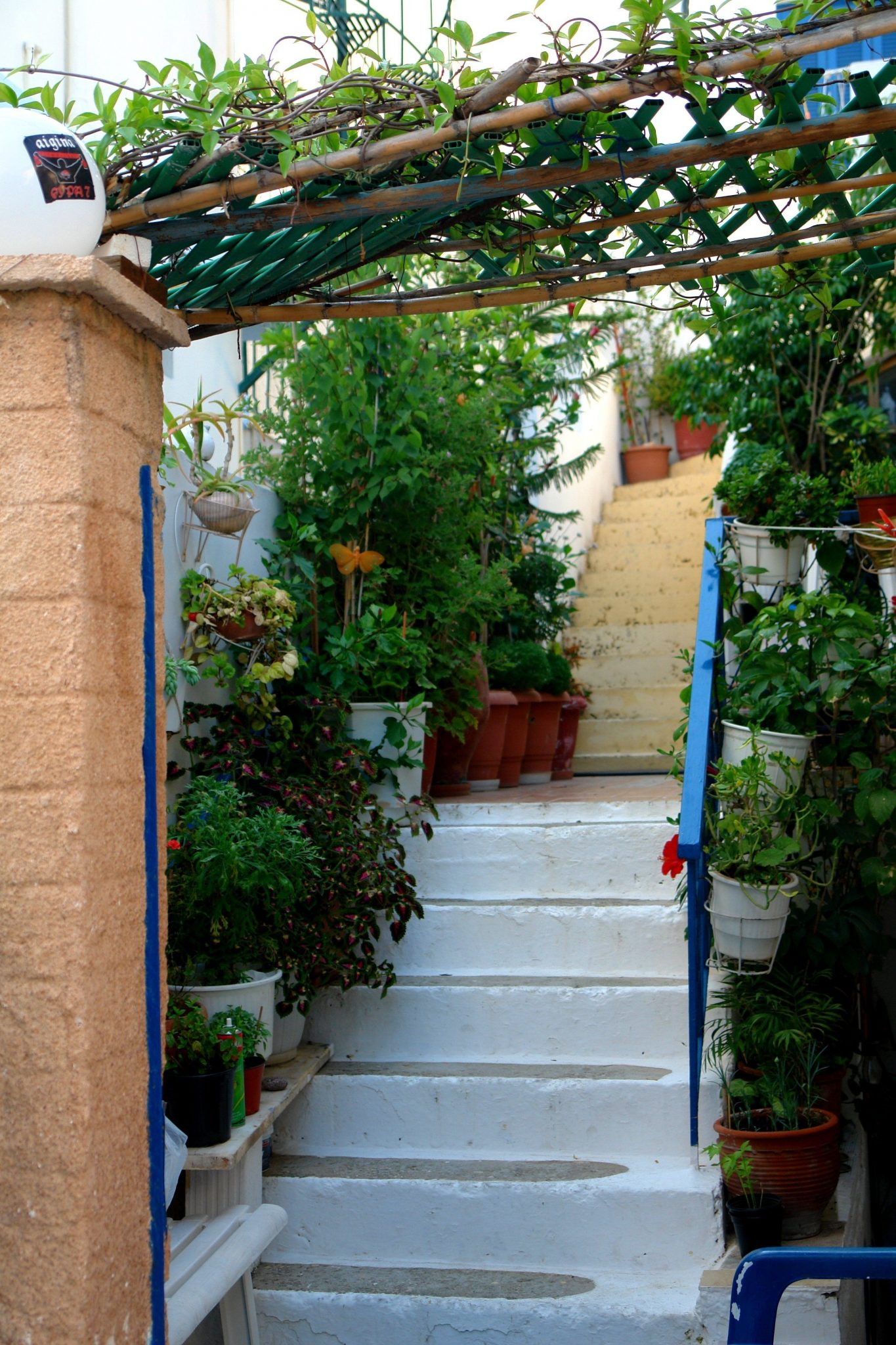 Aegina picturesque alleys
