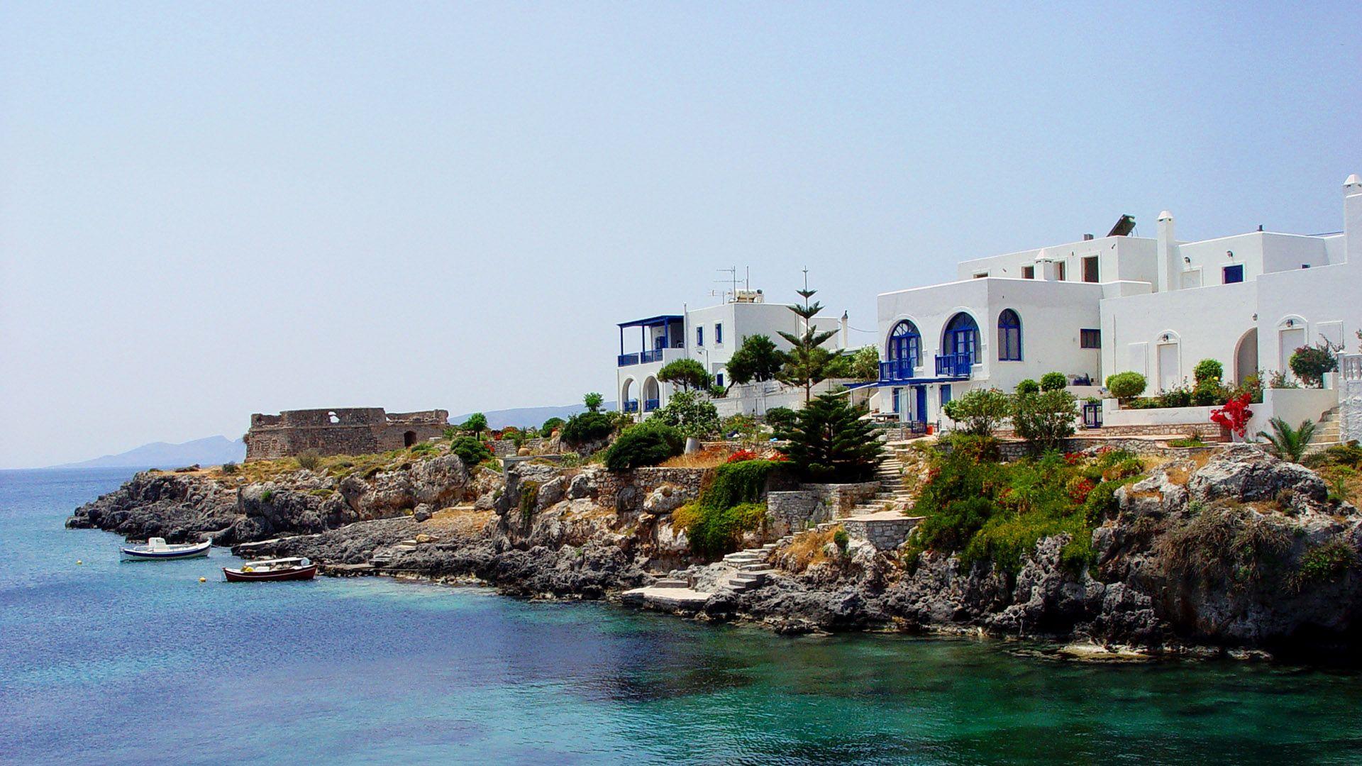 Kythera island landmarks sea