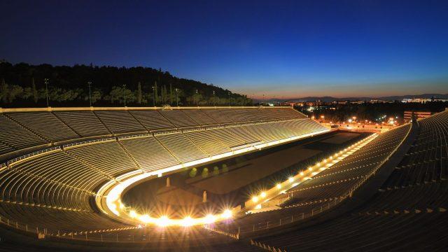 Marathon night view lights