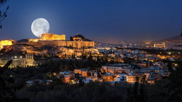 Attica full moon Eleusis