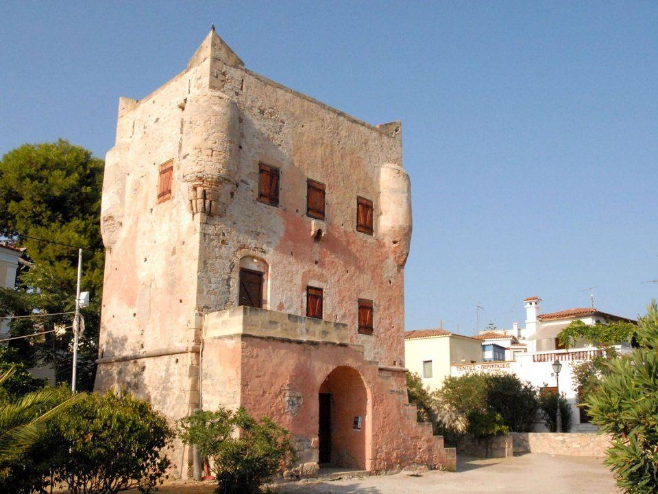 Markellos tower Aegina revolution Μάρκελλος πύργος Αίγινα επανάσταση