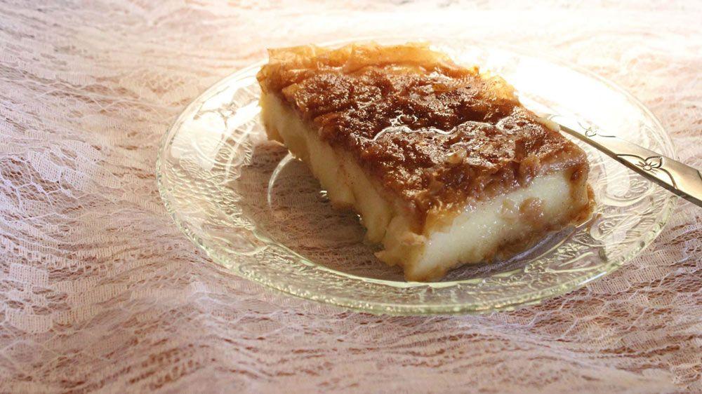 Galatopita, dessert, gastronomy, Attica, Athens