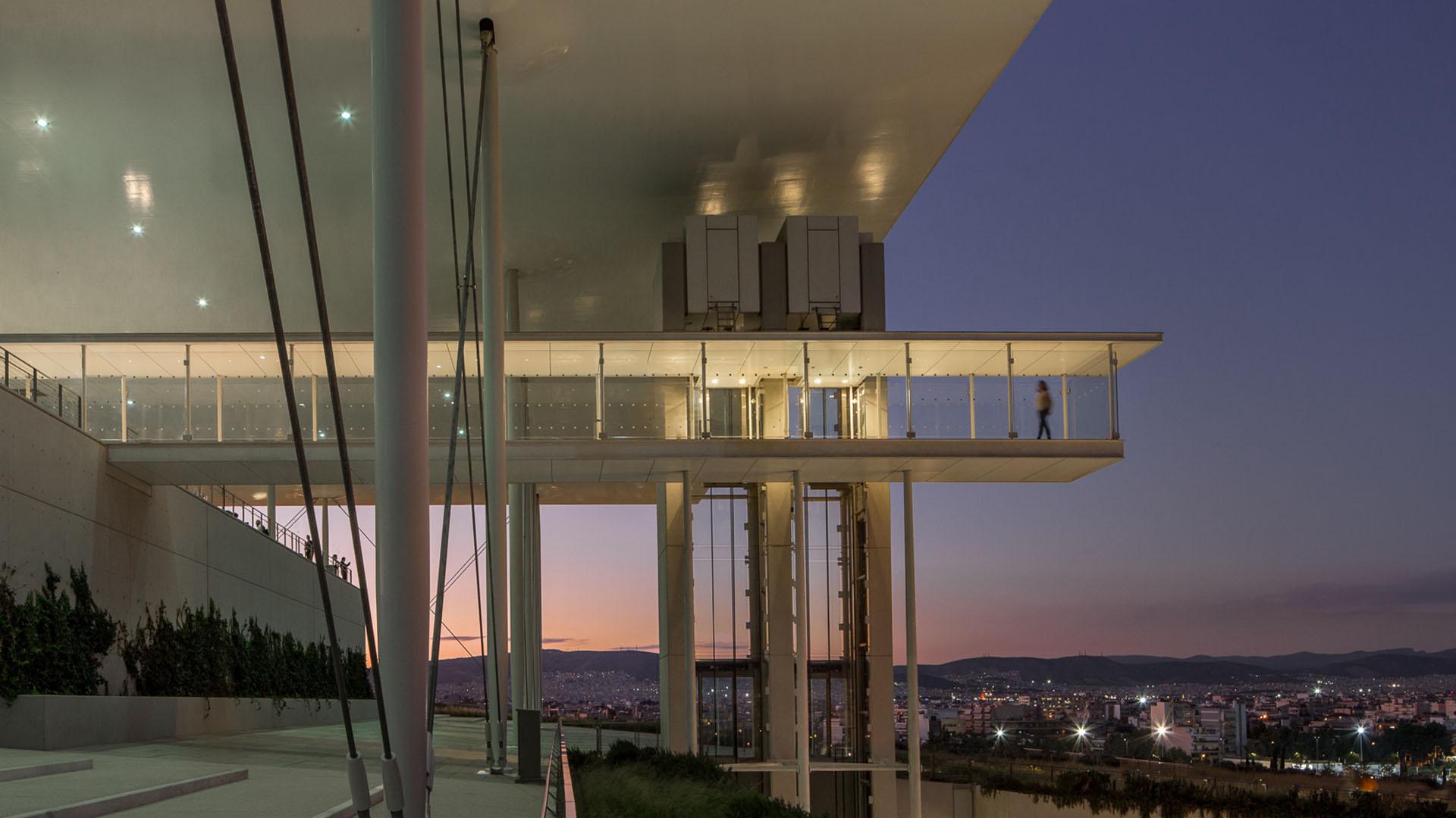 building, balcony, Athens, foundation, Niarchos