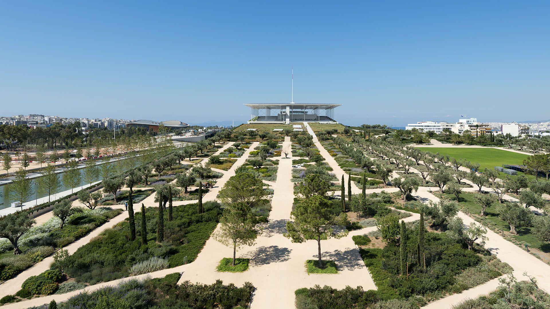 building, park, Athens, foundation, Niarchos