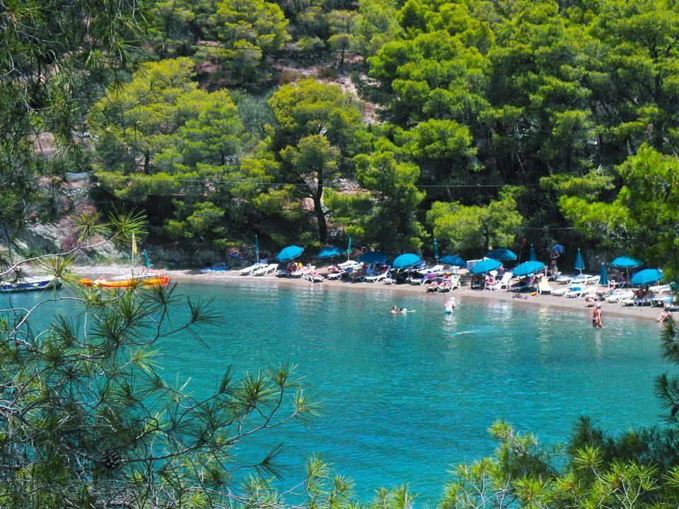 sea, nature, port, vacationers, Poros