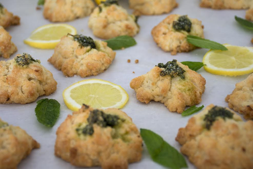 Recipe Lemon cookies mint sweet food