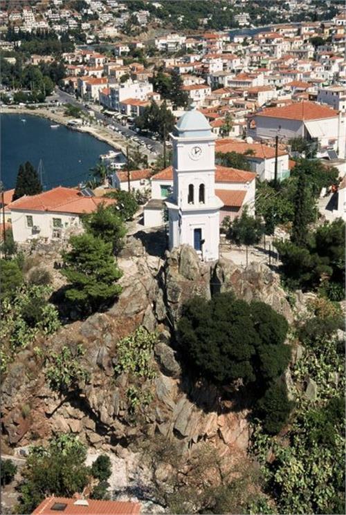 Poros clock island Attica
