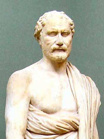 statue, Demosthenes, ancient, Greece, politician
