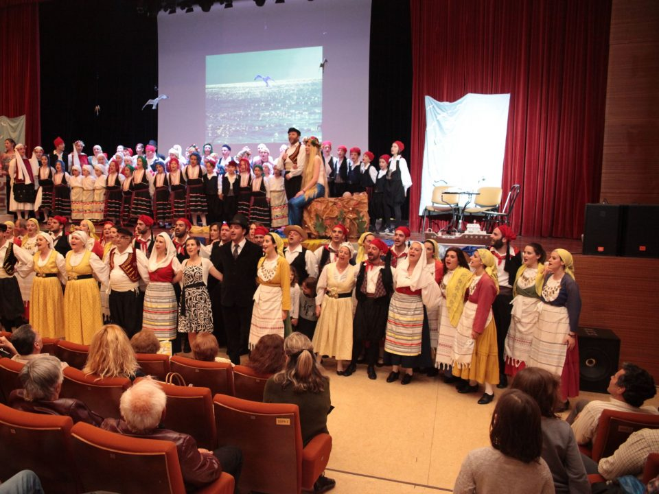 dancers, traditional costumes, song, stage, Attica