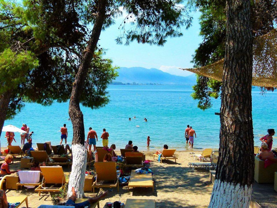 beach, sea, nature, vacationers, Poros, Calypso