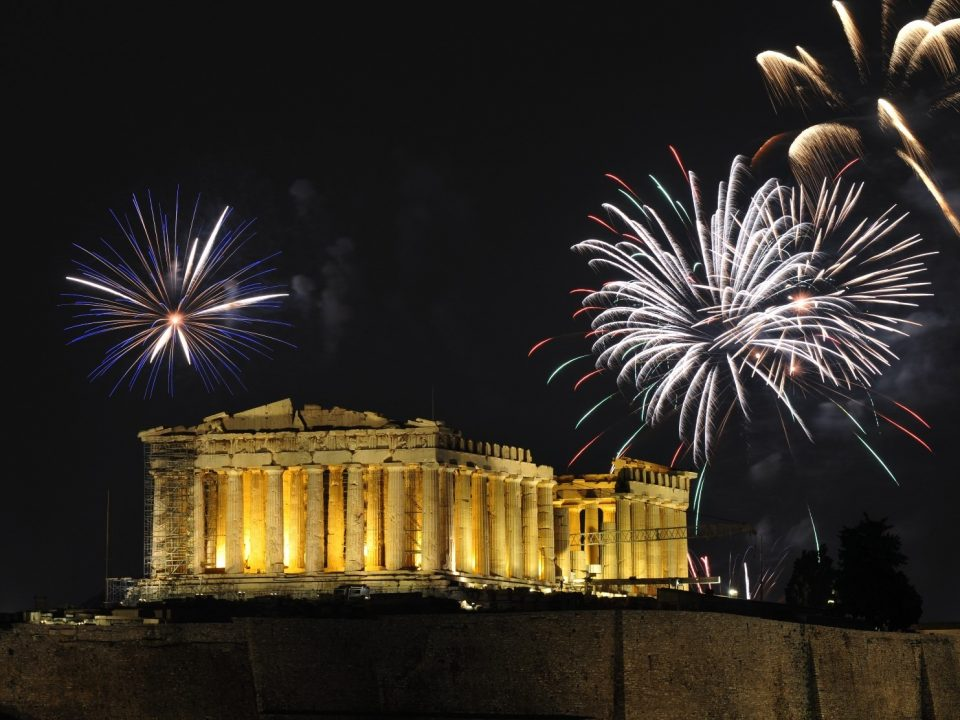 Christmas, Acropolis, New, year