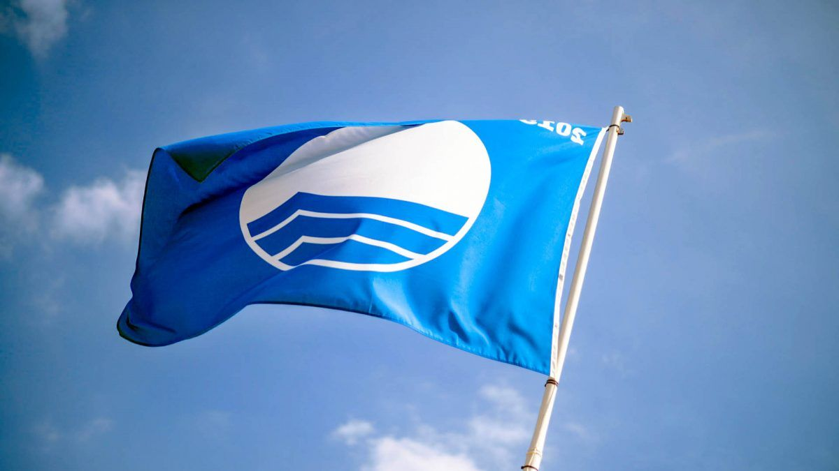Blue, flag, Sea