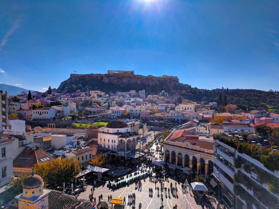 Autumn, Monastiraki, Acropolis
